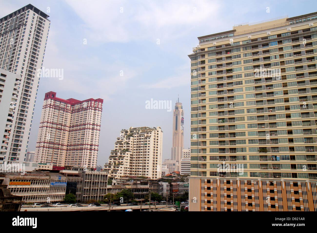 Bangkok Thailand Ratchathewi Hochhaus Eigentumswohnanlage Wohn Baiyoke Tower II Hotel Hochhaus Stockbild