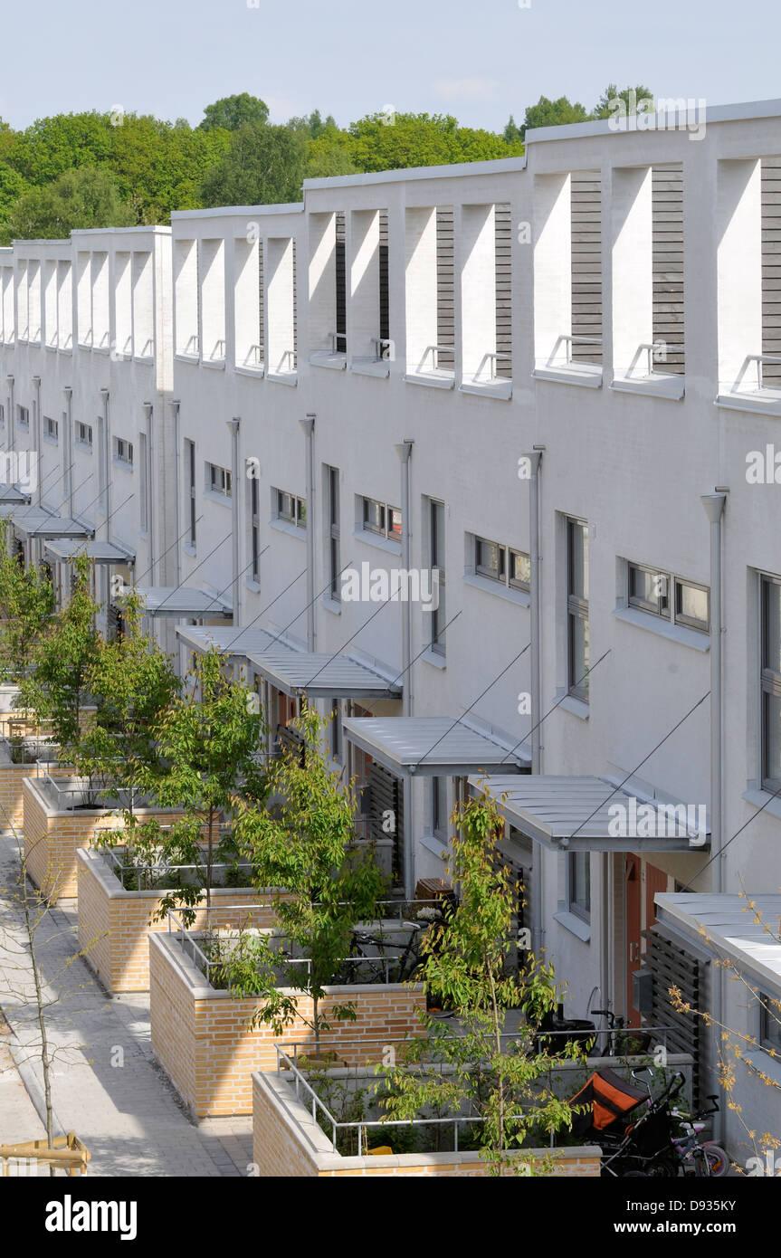 Ein neu gebautes Wohngebiet, Göteborg, Schweden. Stockbild