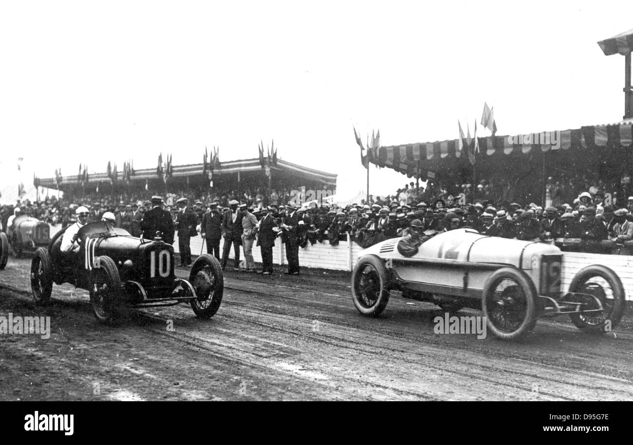 Großer Preis Von Frankreich In Le Mans 25 Juli 1921 Zu Beginn