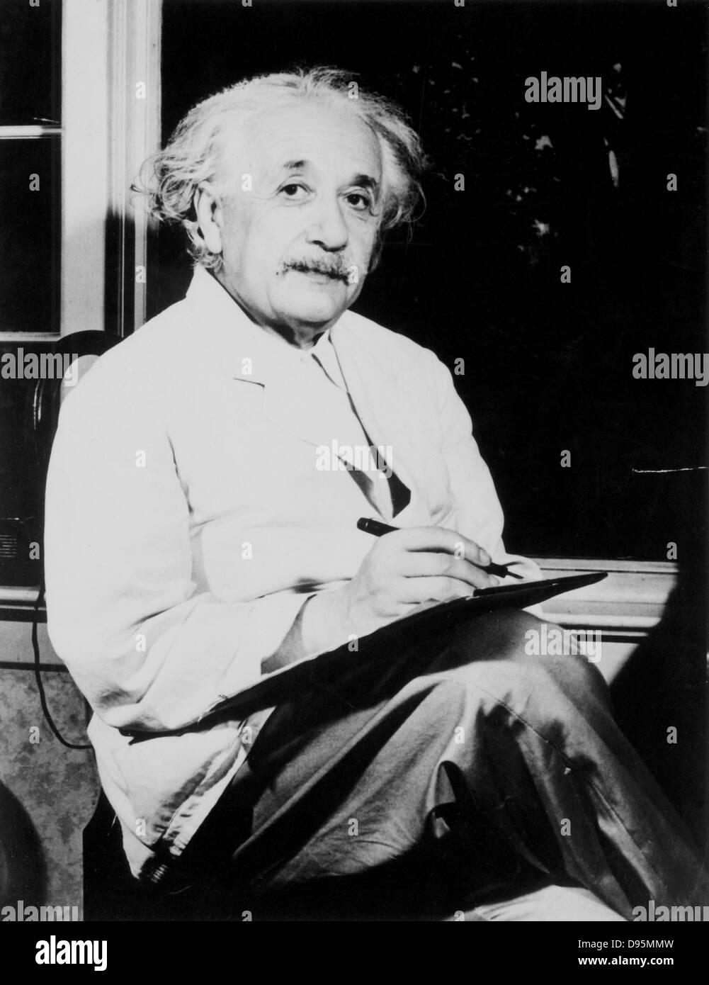 Albert Einstein (1879-1955) deutsch-schweizerisch-amerikanische Mathematiker und Physiker. Stockbild
