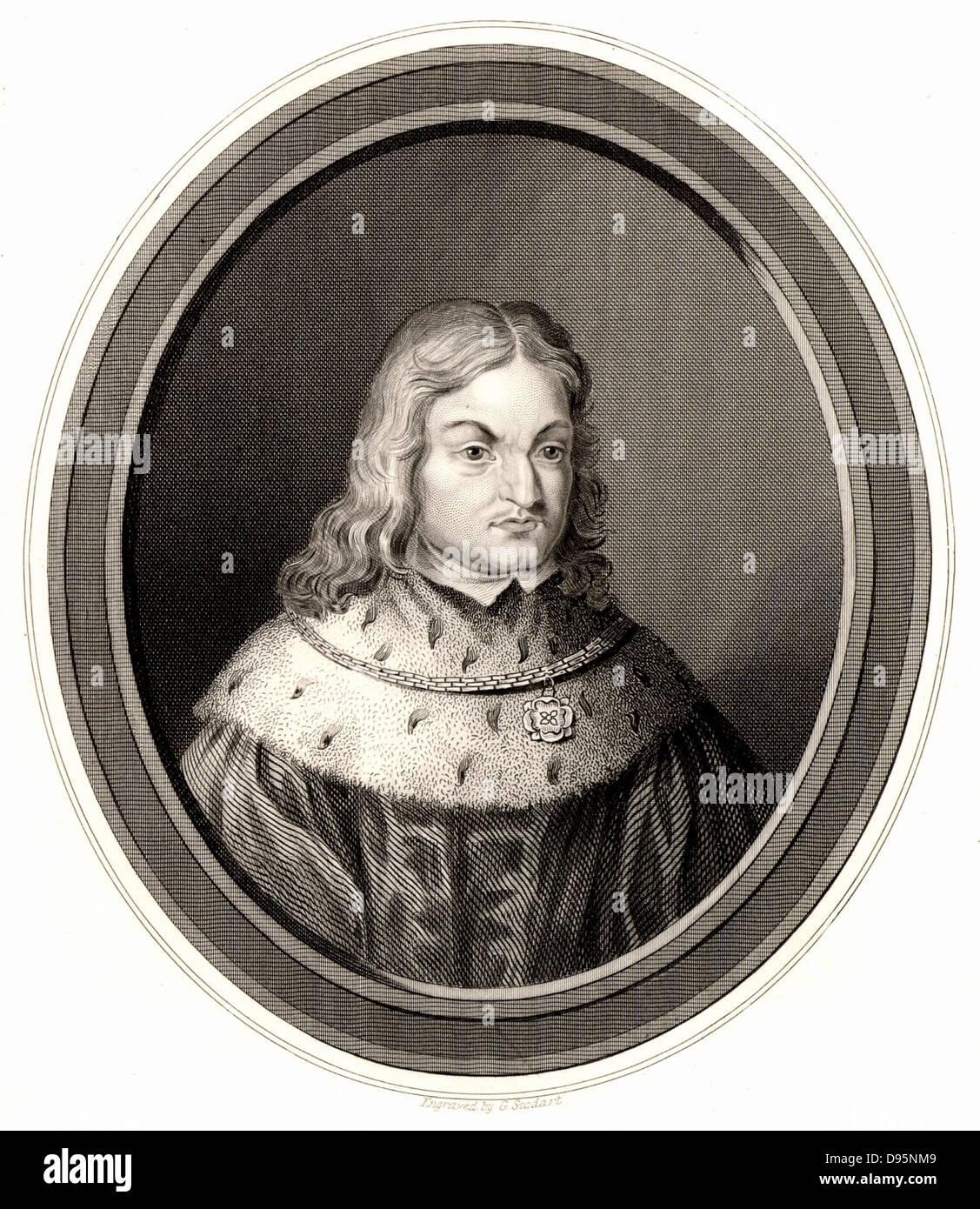 Friedrich III. von Sachsen, der Weise (c1463-1525) Patron von Martin Luther und Anhänger der Reformation. Gravur Stockbild