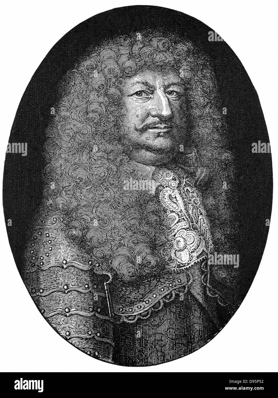 Frederick William (1620-1688) Kurfürst von Brandenburg von 1640, bekannt als der große Kurfürst. Stockbild