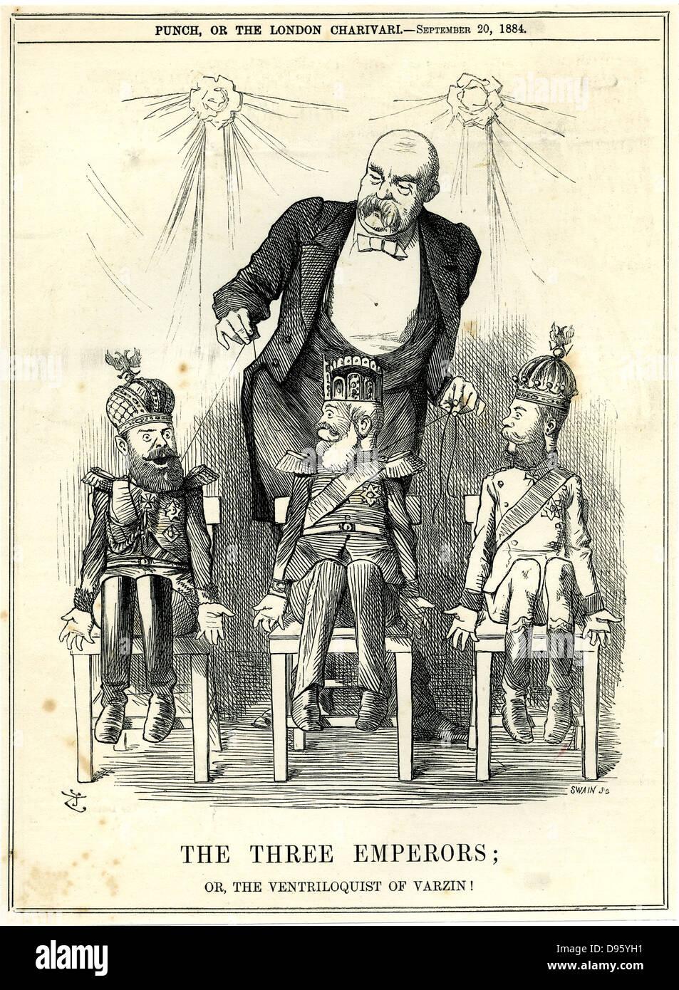 Die drei Kaiser. Otto von Bismarck als Puppenspieler die Drahtzieher ...