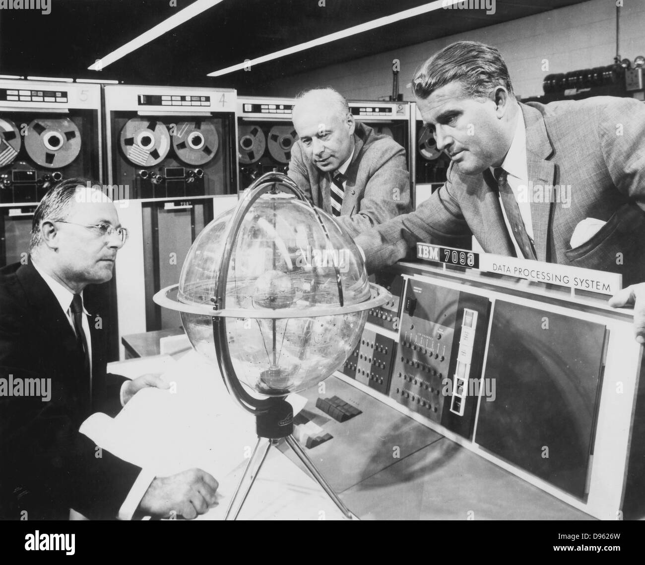 Werner Magnus Maximilian Freihier von Braun (1912-1977) deutscher Wissenschaftler im Rakete Programm seines Landes beteiligt. Nach dem Zweiten Weltkrieg nahm er uns Nationalität. Er wurde Direktor der NASA und als Vater der US Space Programm angesehen. Stockfoto