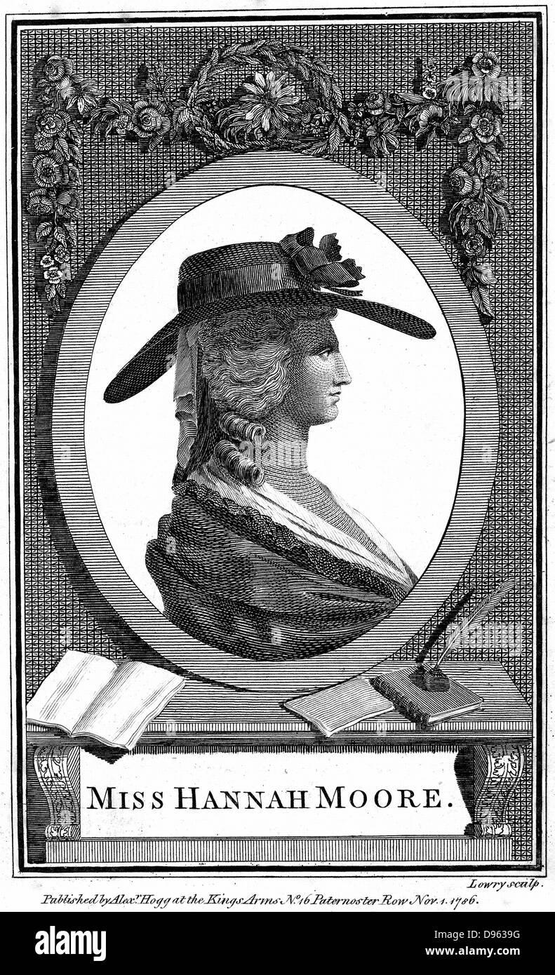 Hannah More (1745-1833) englische Religionen Schriftsteller, Dichter und Dramatiker. Mitglied des blauen Strumpf Stockbild
