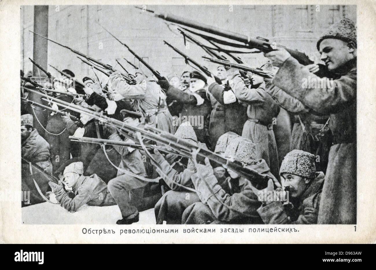 Russische Revolution von Oktober 1917: Stockbild