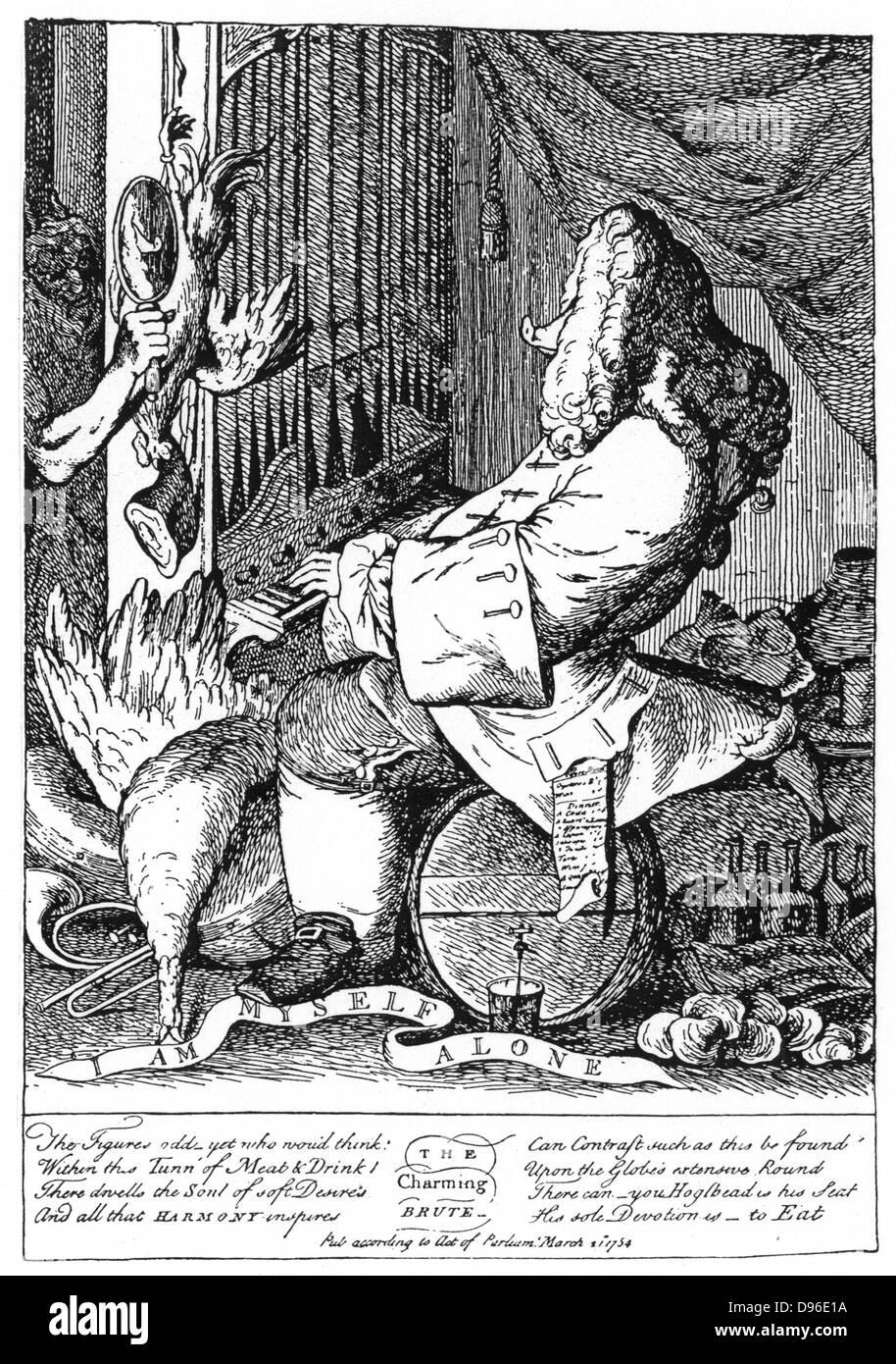 """Händel (1685-1759) deutsch-englische Komponist in Halle geboren. """"Das charmante Brute"""", veröffentlichte Stockbild"""