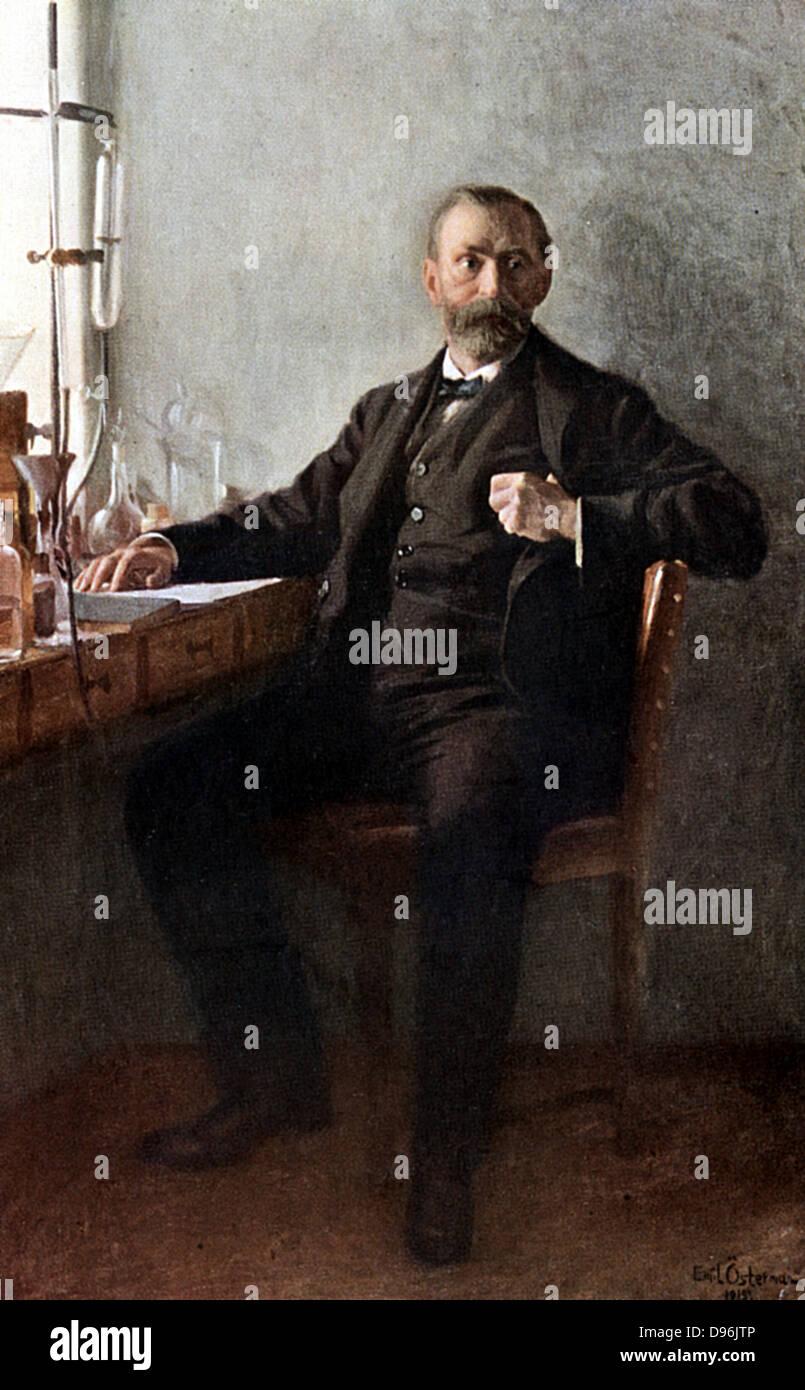 Alfred Nobel (1833-96), schwedischer Chemiker und Erfinder. Dynamit. Dotierten Nobelpreise Stockbild