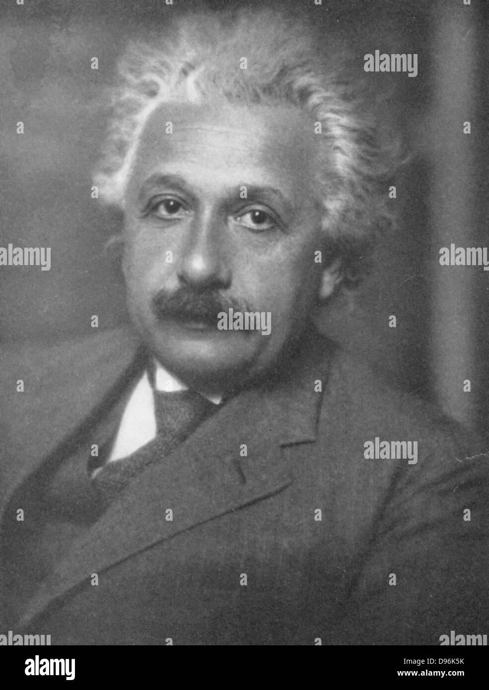 Albert Einstein (1879-1955), deutsch-schweizerisch-amerikanische Mathematiker und Physiker Stockbild