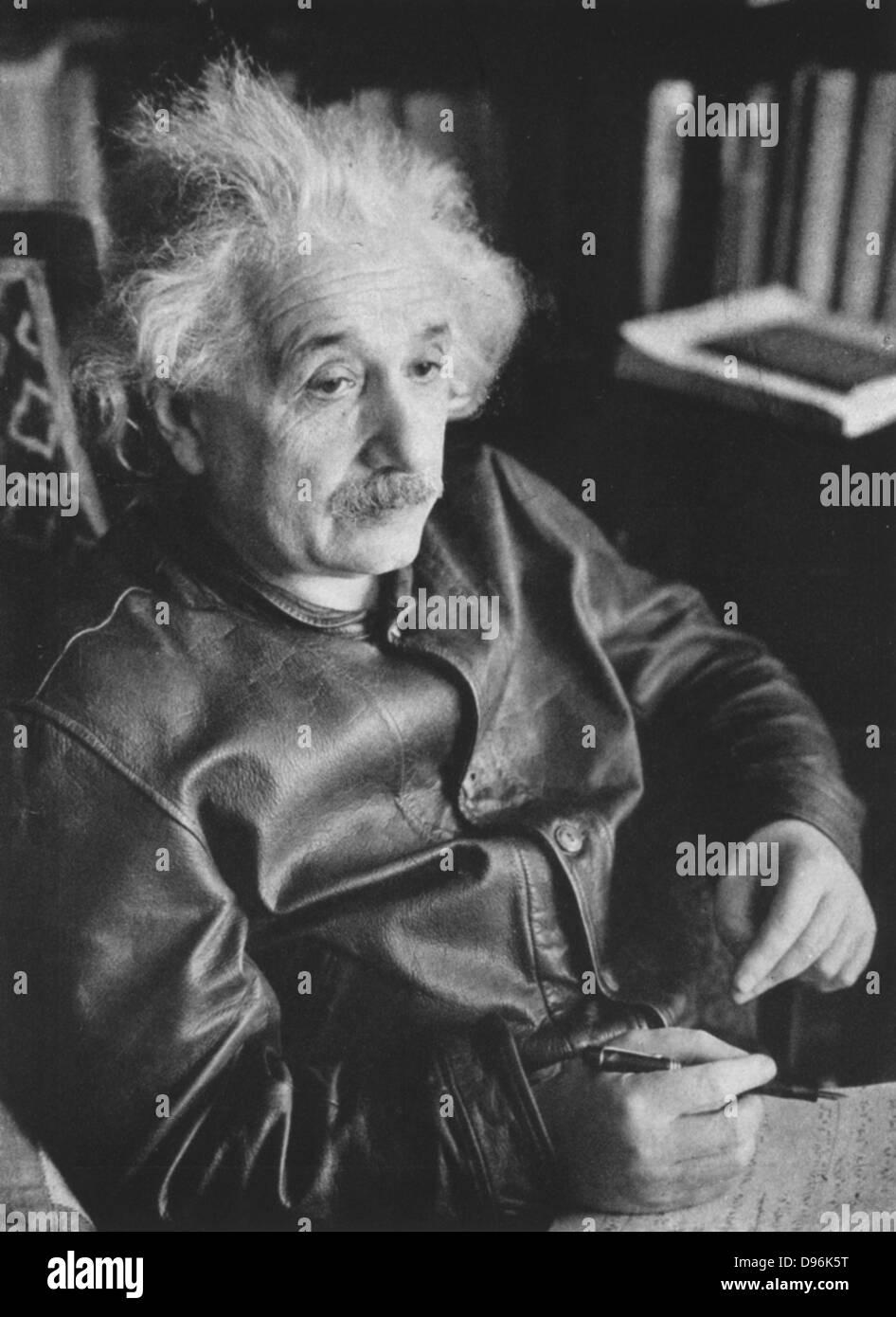 Albert EINSTEIN (1879-1955), Deutsch-Schweizer-amerikanischer theoretischer Physiker. Stockbild