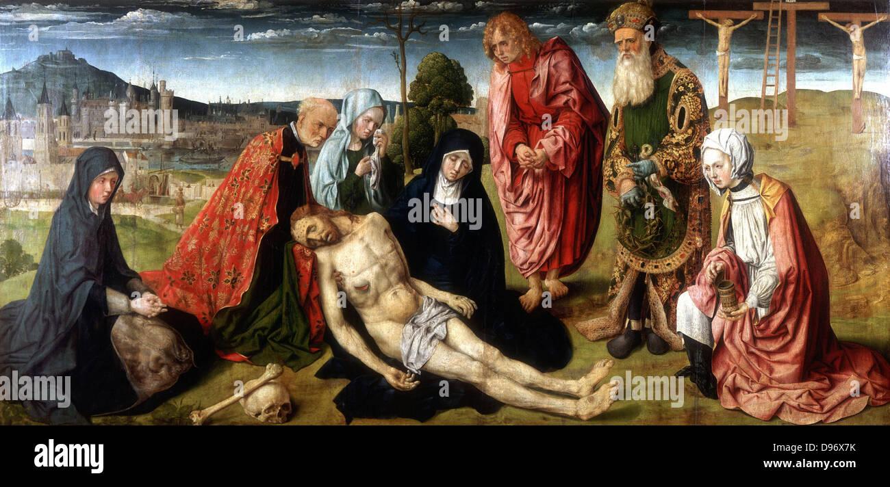 """Pieta """". Meister der Saint-Germain-des-Prés (aktive Paris c1500). Stockbild"""