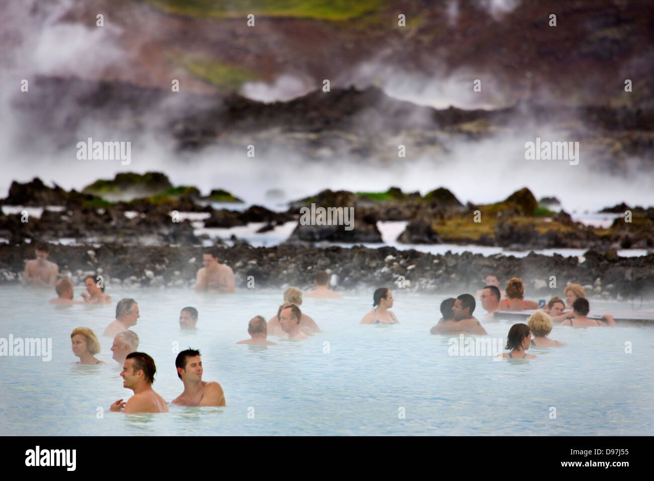 Das Blue Lagoon geothermische Spa in Island Stockfoto
