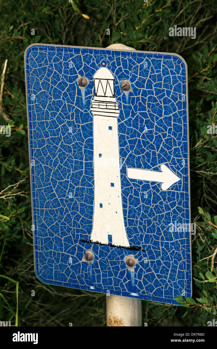 Leuchtturm-Zeichen Stockbild