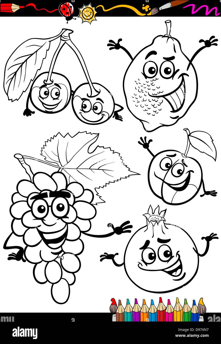 cartoon illustration funny fruits comic stockfotos cartoon illustration funny fruits comic. Black Bedroom Furniture Sets. Home Design Ideas