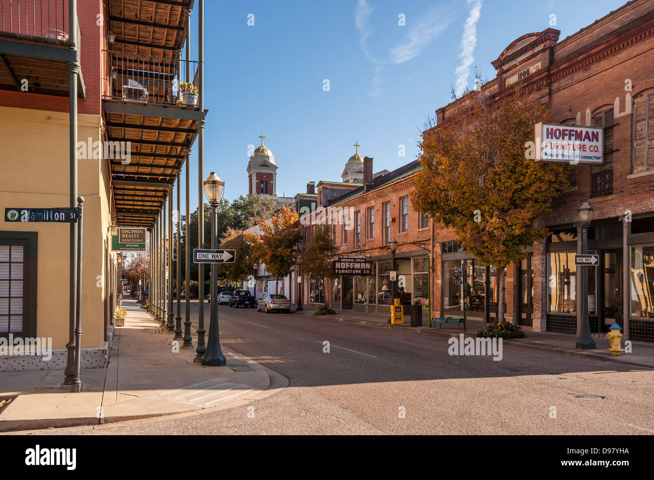 Dauphin Street Mobile Alabama Vereinigte Staaten Von Amerika