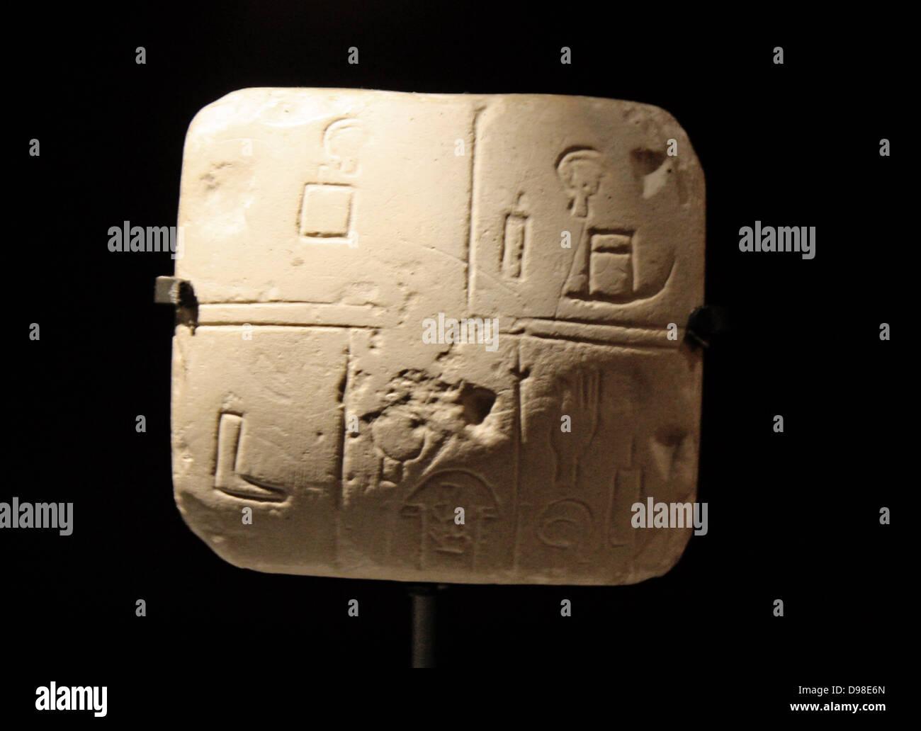 Frühe schreiben und Konten in Mesopotamien. Moderne Darsteller ...