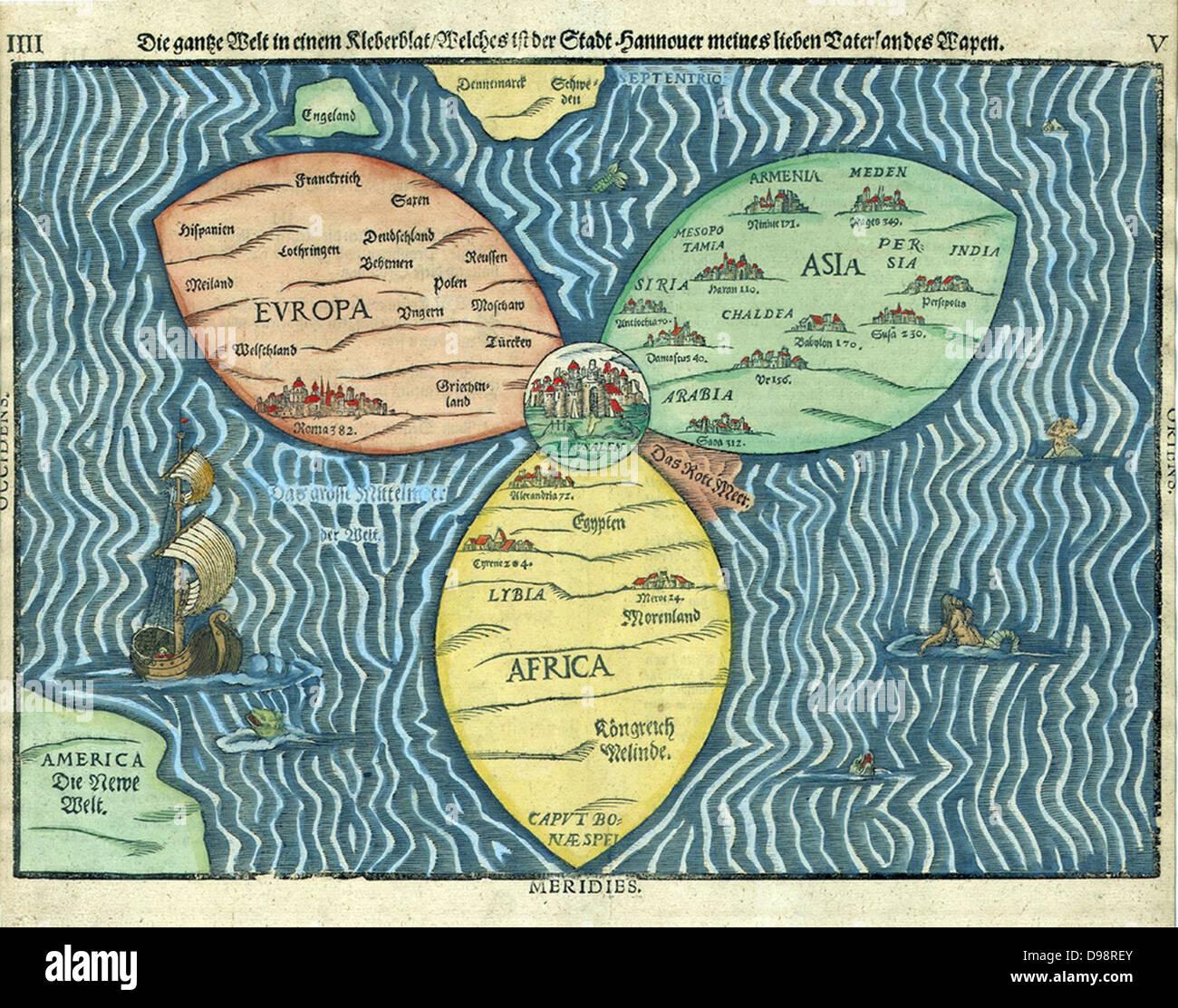 Jerusalem Karte Welt.Dieses Kleeblatt Weltkarte Mit Jerusalem In Der Mitte