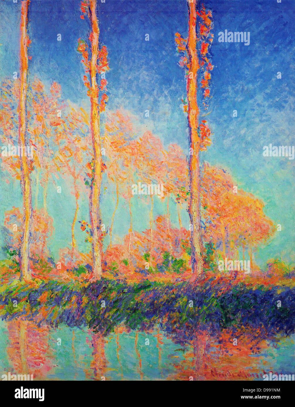 Claude Monet Pappeln Herbst 1891 Die Pappel Serie Gemalde Von Claude Monet Im Sommer Und Herbst 1891 Die Prachtigen Baume Wurden In Einem Sumpf An Den Ufern Des Flusses Epte Wenige Kilometer