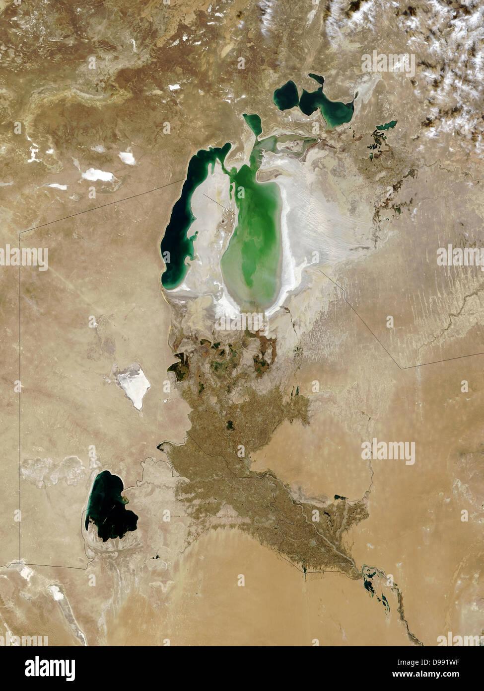 Der Aralsee, Oktober 2008. Einmal viertgrößte Binnenmeer in Südkasachstan und nördlichen Usbekistan Stockbild