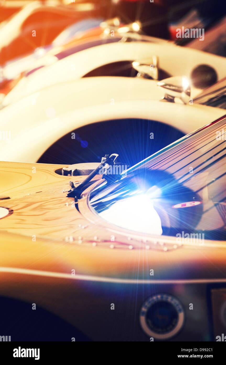glänzende Autos Stockbild