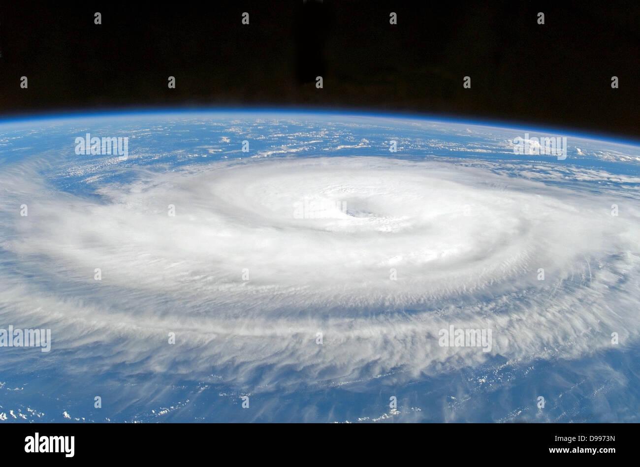 Satellitenbild von Hurrikan-Gordon-Atlantik Stockbild