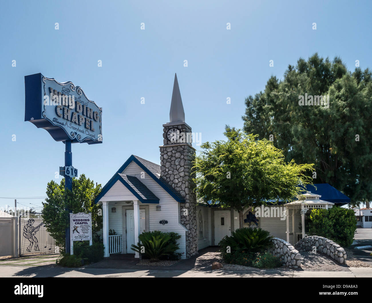 Graceland Wedding Chapel In Downtown Las Vegas Nevada Usa