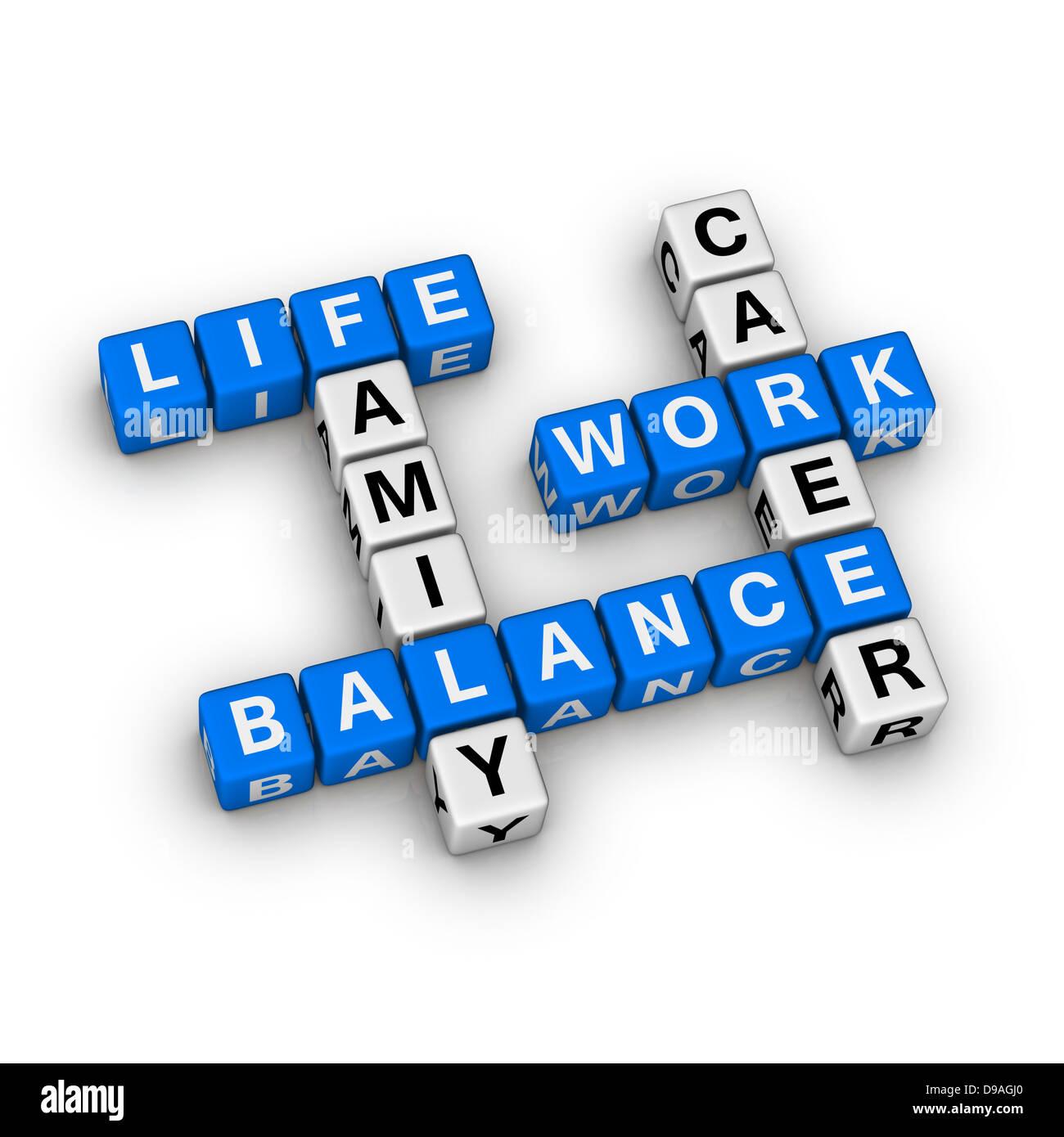 Arbeit und Privatleben Stockbild