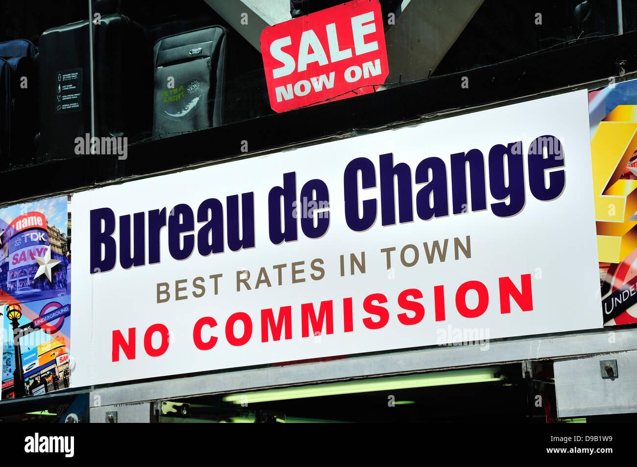 Bureau de change no commission stockfotos bureau de change no