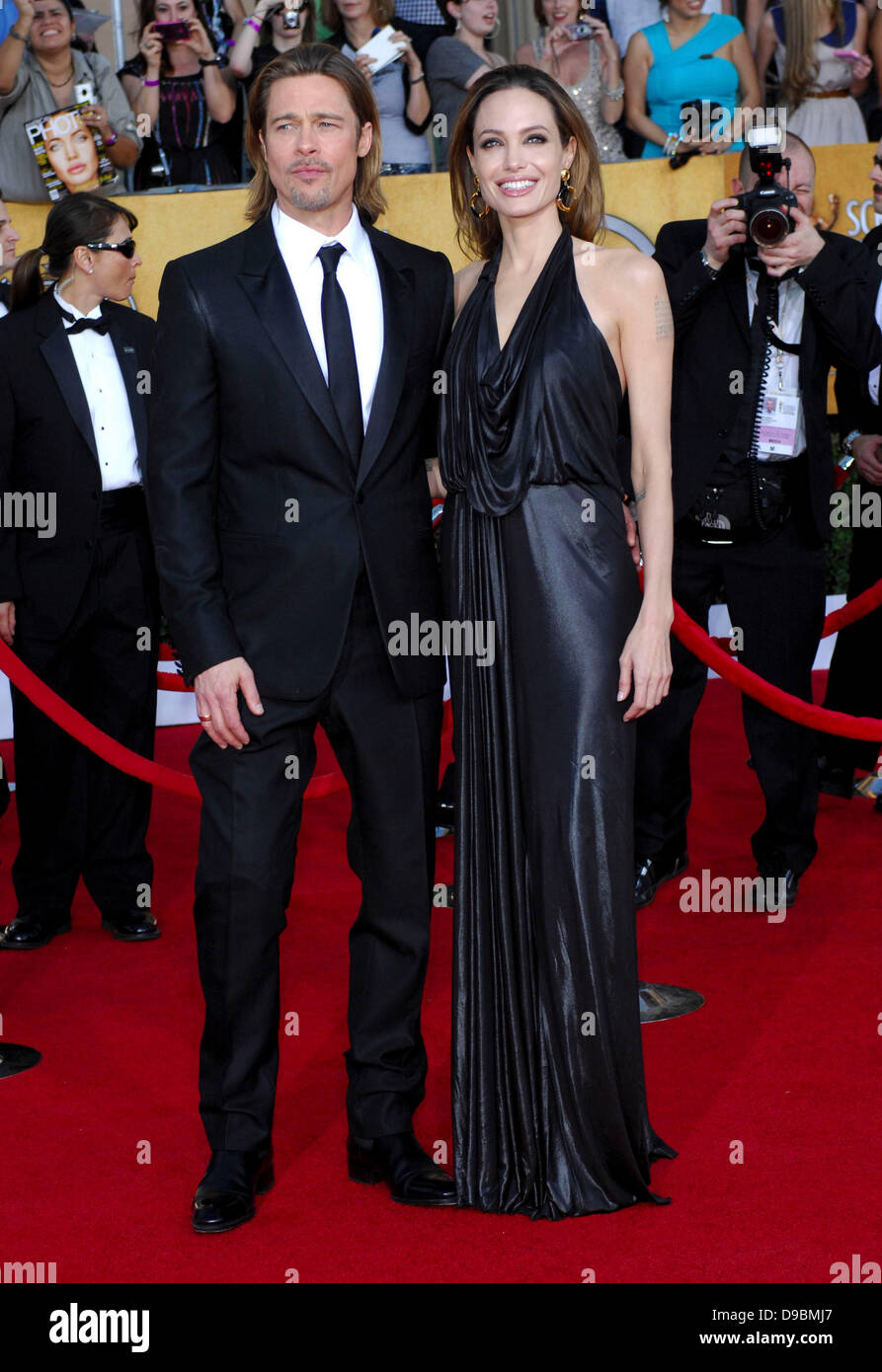 Brad Pitt, Angelina Jolie 18. Annual Screen Actors Guild Awards (SAG Awards) abgehaltenen The Shrine Auditorium Stockfoto