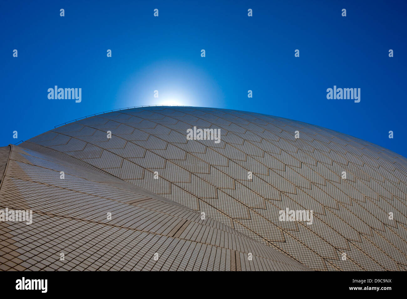 Detaillierte Sicht auf dem Dach der Oper von Sydney, Sydney, New South Wales, Australien Stockbild