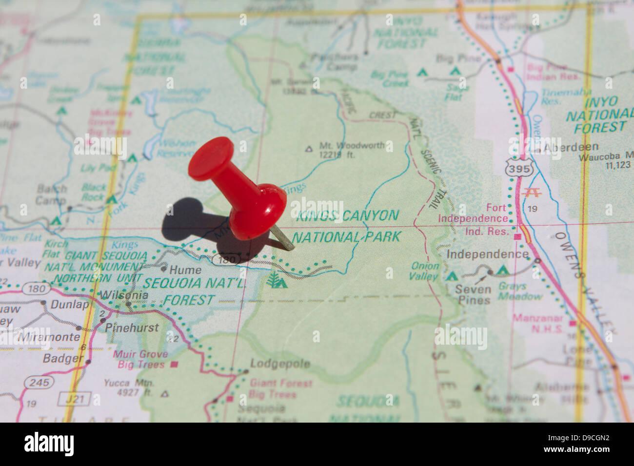 Map National Parks Usa Stockfotos & Map National Parks Usa ...