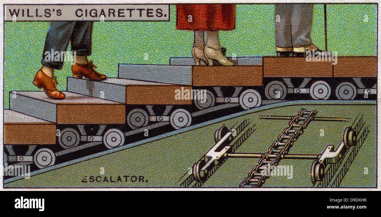 Technik-Wunder, 1927: Rolltreppe, Großbritannien. Stockbild