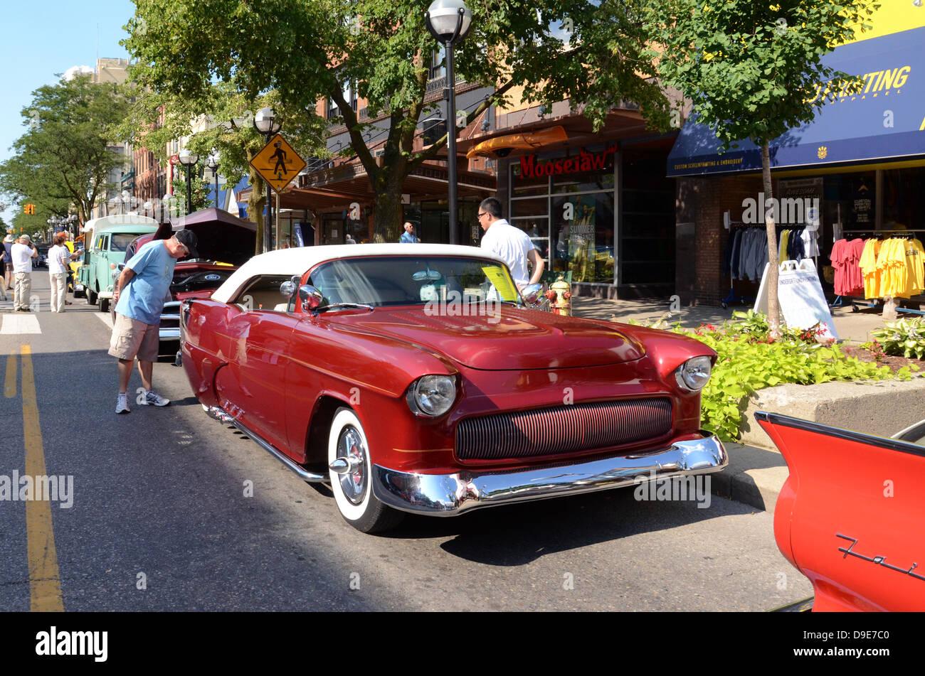 1955 Chevrolet Am Rollenden Skulptur Auto Show 13 Juli 2012 In Ann