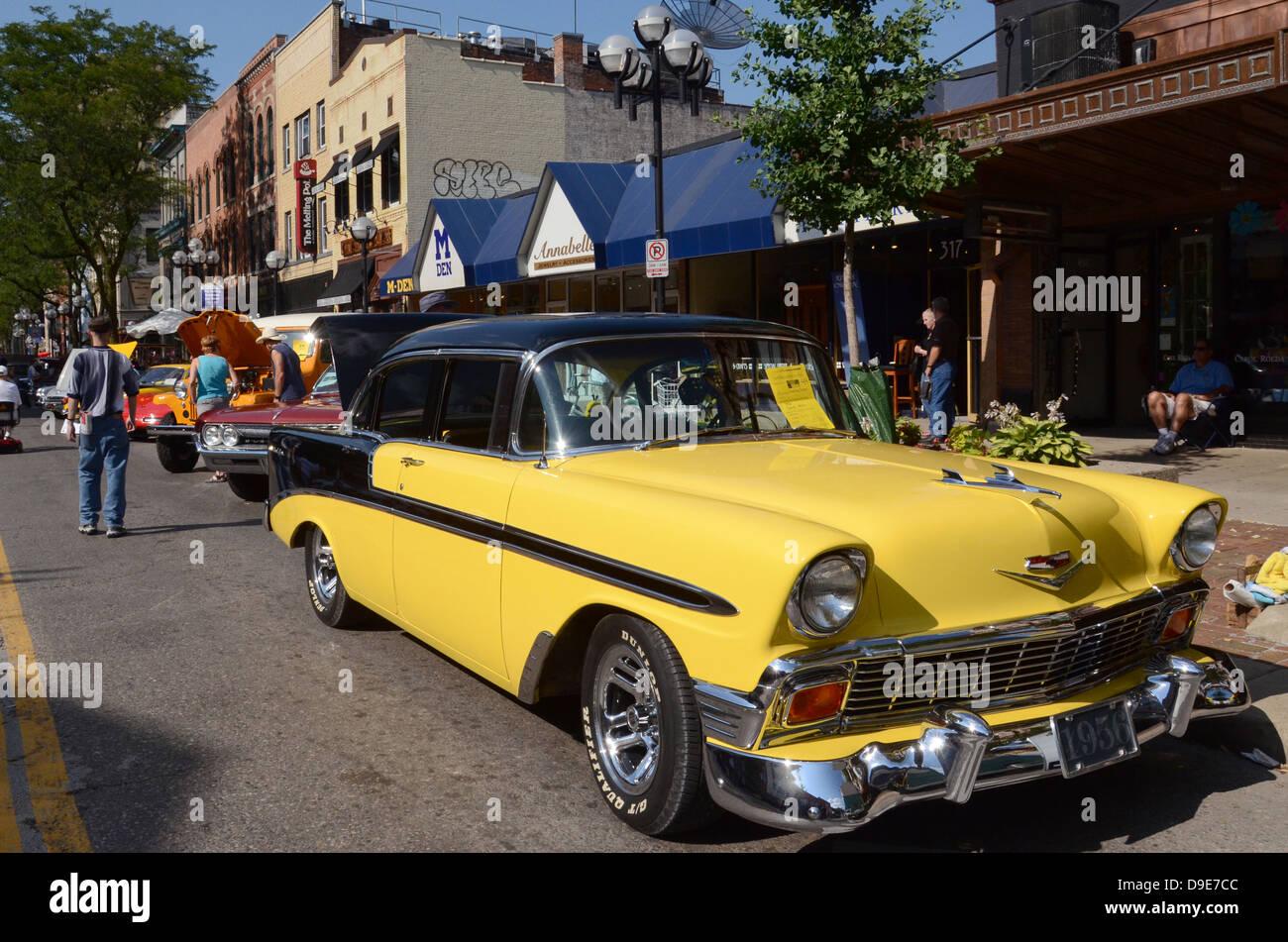 1956 Chevy Chevrolet Bel Air Am Rollenden Skulptur Auto Show 13