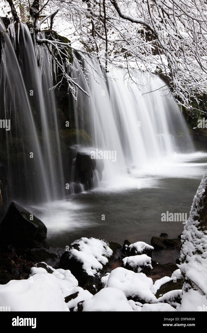 Sgwd Ddwli Wasserfall, Brecon Beacons National Park, Powys, Wales, UK Stockbild
