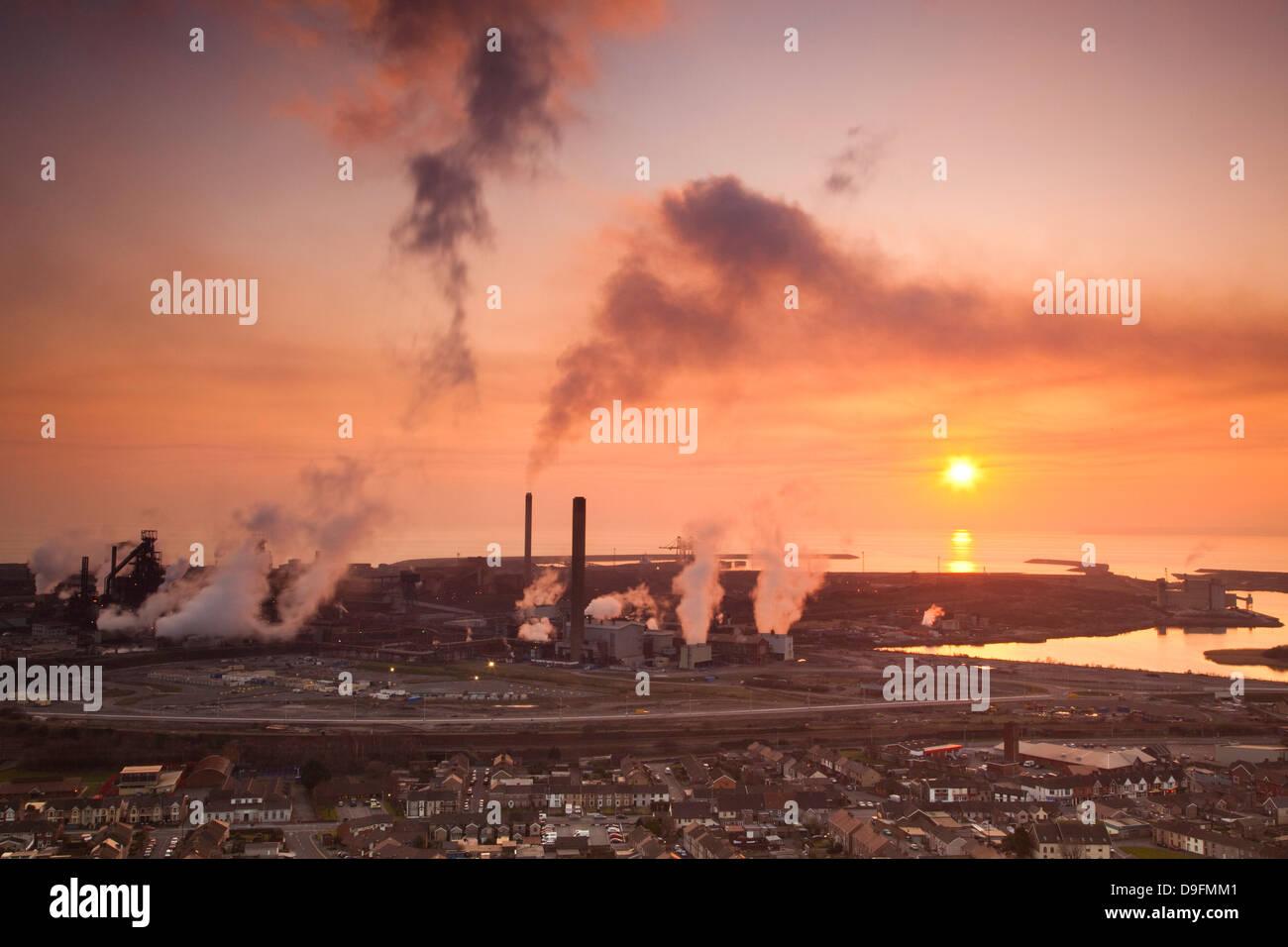 Hochöfen, Corus Stahlwerke, Port Talbot, Glamorgan, Wales, UK Stockfoto