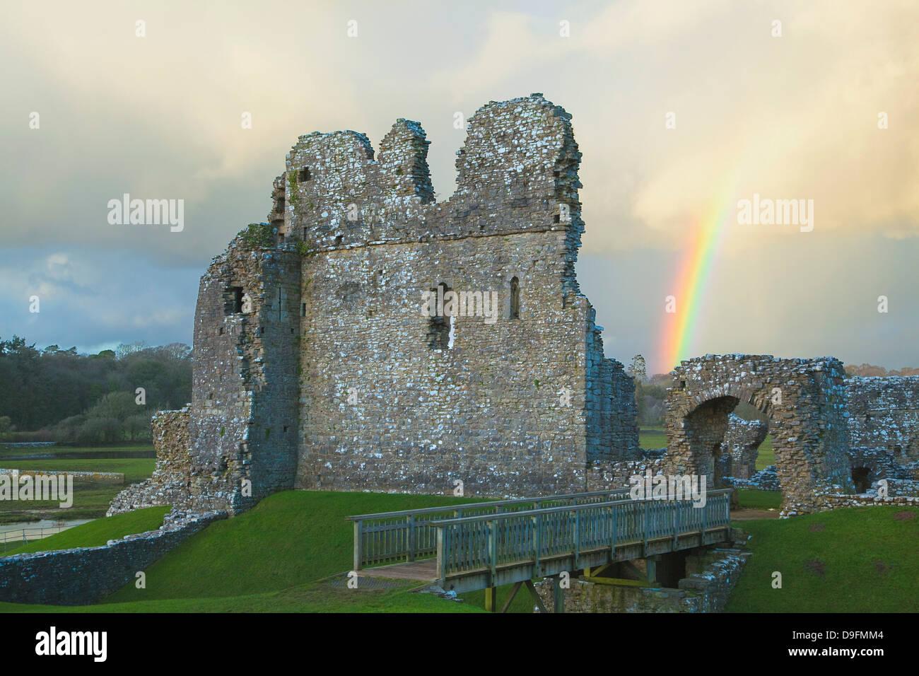 Ogmore Burg, Bridgend, Wales, Großbritannien Stockbild