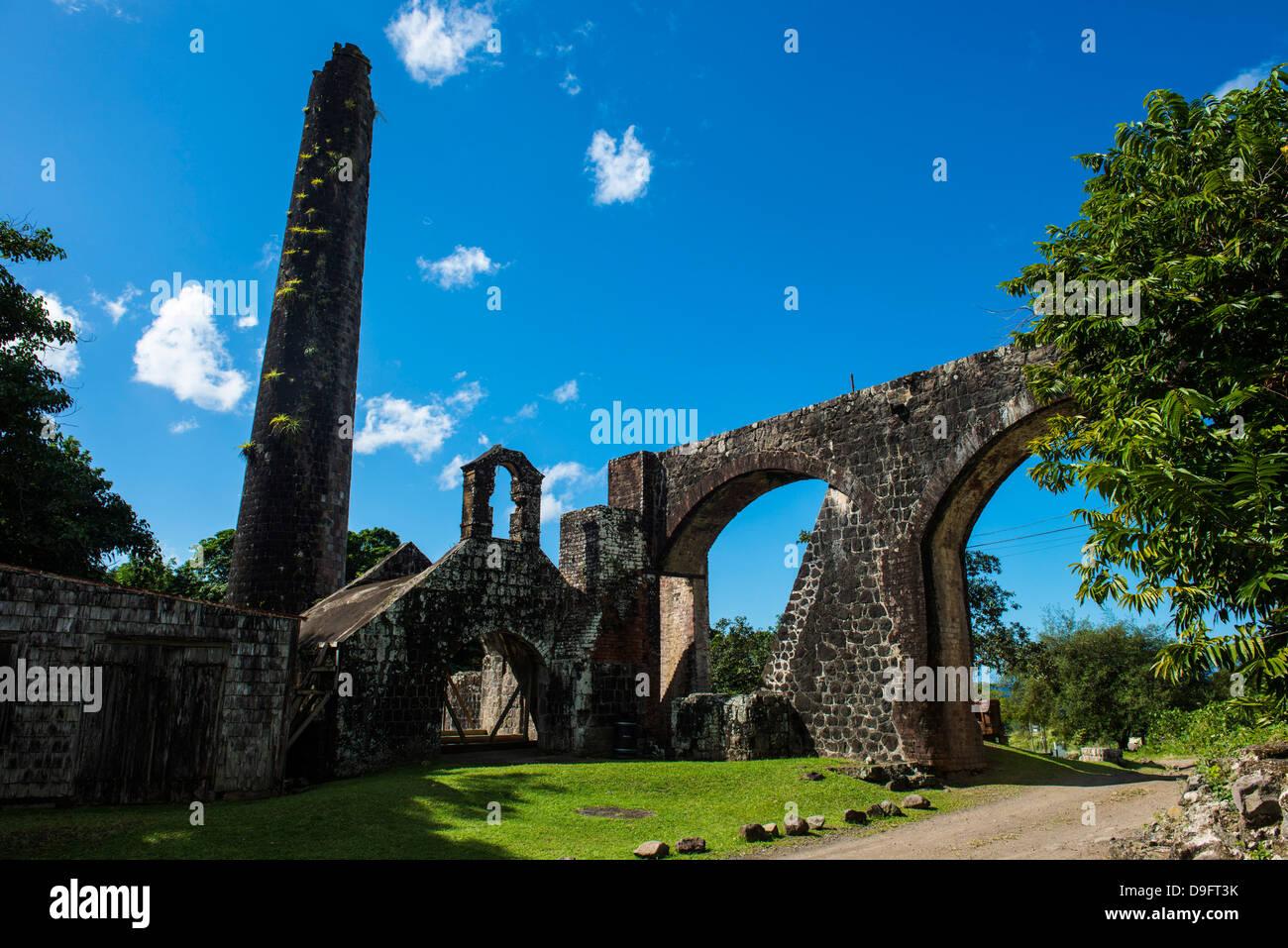 Ruinen einer alten Mühle, St. Kitt, St. Kitts und Nevis, Leeward-Inseln, West Indies, Karibik Stockbild