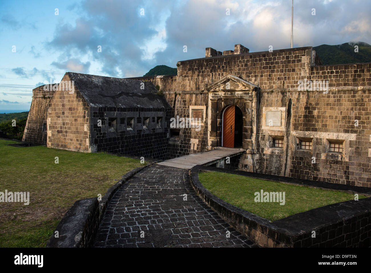 Brimstone Hill Fortress, UNESCO-Weltkulturerbe, St. Kitts, St. Kitts und Nevis, Leeward-Inseln, West Indies, Karibik Stockbild
