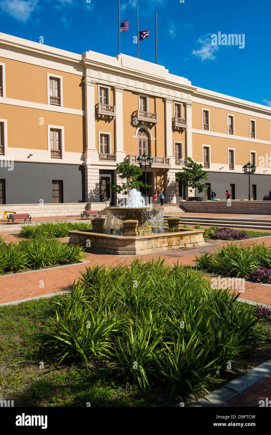 Ballaja-Kaserne, Museum of Americas Volkskunst, San Juan, UNESCO-Weltkulturerbe, Puerto Rico, West Indies, Karibik Stockbild