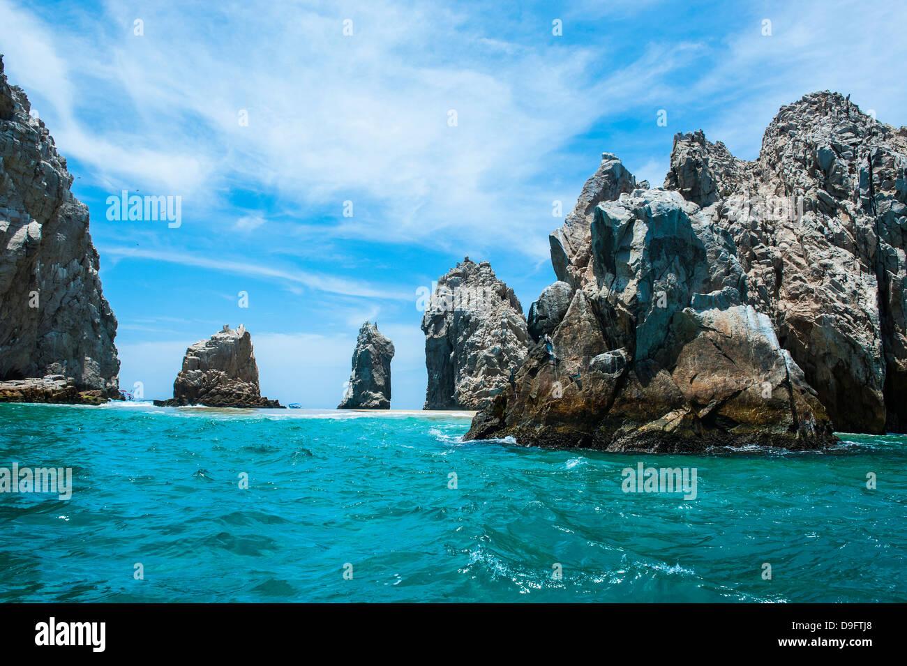 Lands End Felsformation, Los Cabos, Baja California, Mexiko Stockbild