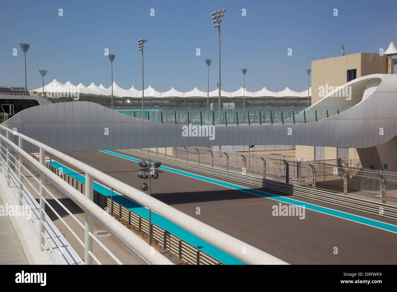 Formel 1-Rennstrecke, Yas Island, Abu Dhabi, Vereinigte Arabische Emirate, Naher Osten Stockbild