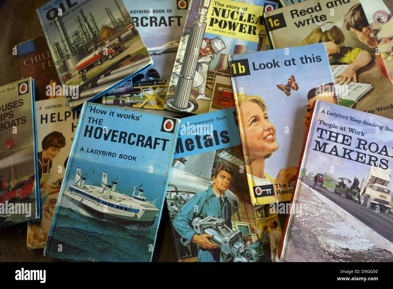 Marienkäfer Kinderbücher der 1950er und 1960er Jahre, England Stockbild