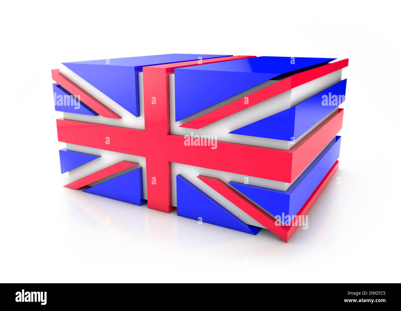 Union Jack Flag - 3D-Konzept Stockbild