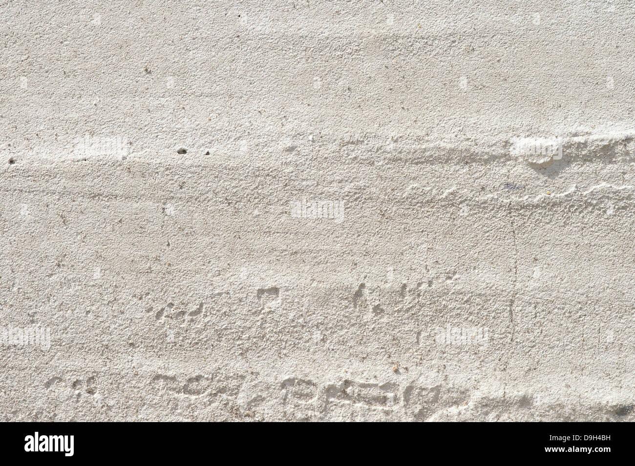 Weiße Wand Beton Monolith Hintergrund strukturiert natürlichen Zement oder Stein alte Textur urbane Muster Stockbild