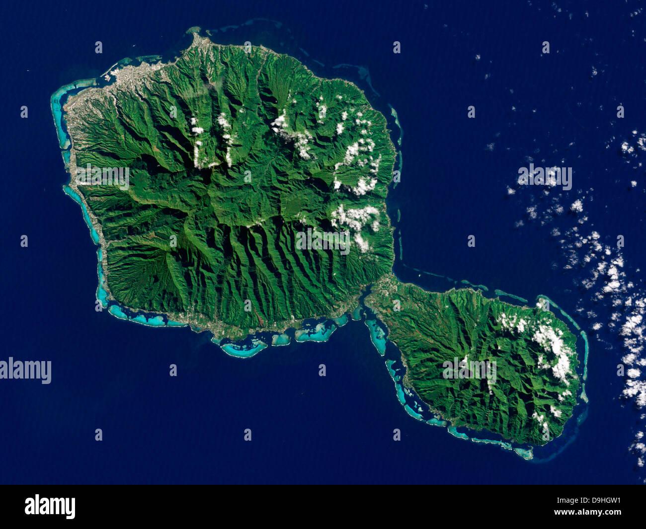 Map Satellite Geography Polynesia Stockfotos & Map Satellite ...