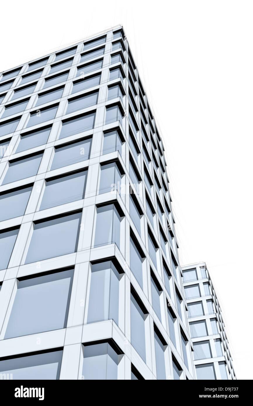 Architektur Moderner Blaue Wolkenkratzer Zeichnen Stockfoto Bild