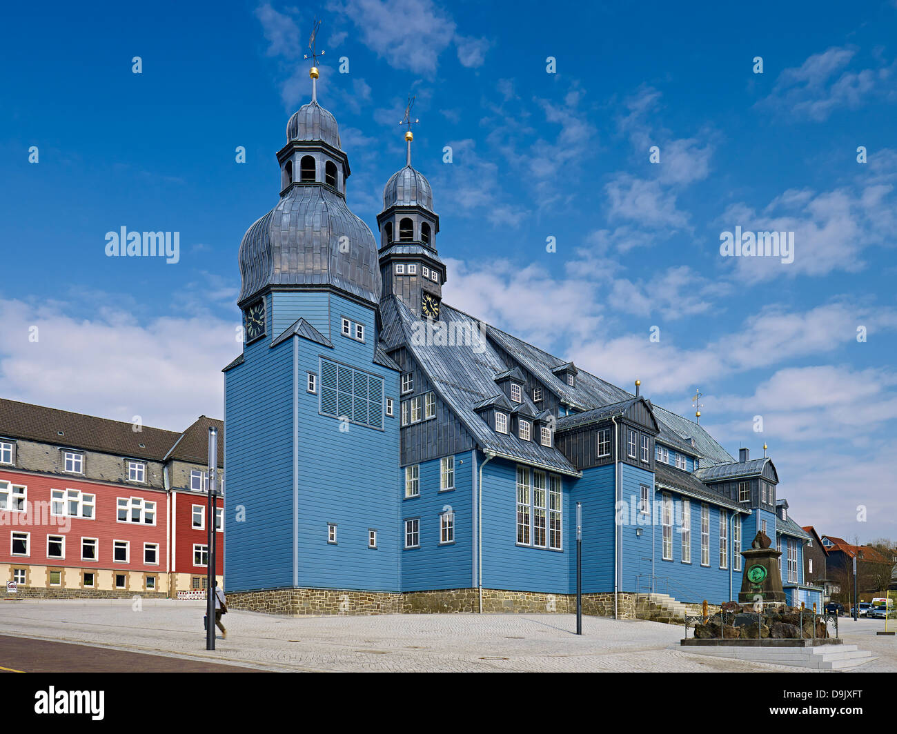 markt der heiliggeistkirche in clausthal clausthal zellerfeld goslar oberharz niedersachsen. Black Bedroom Furniture Sets. Home Design Ideas
