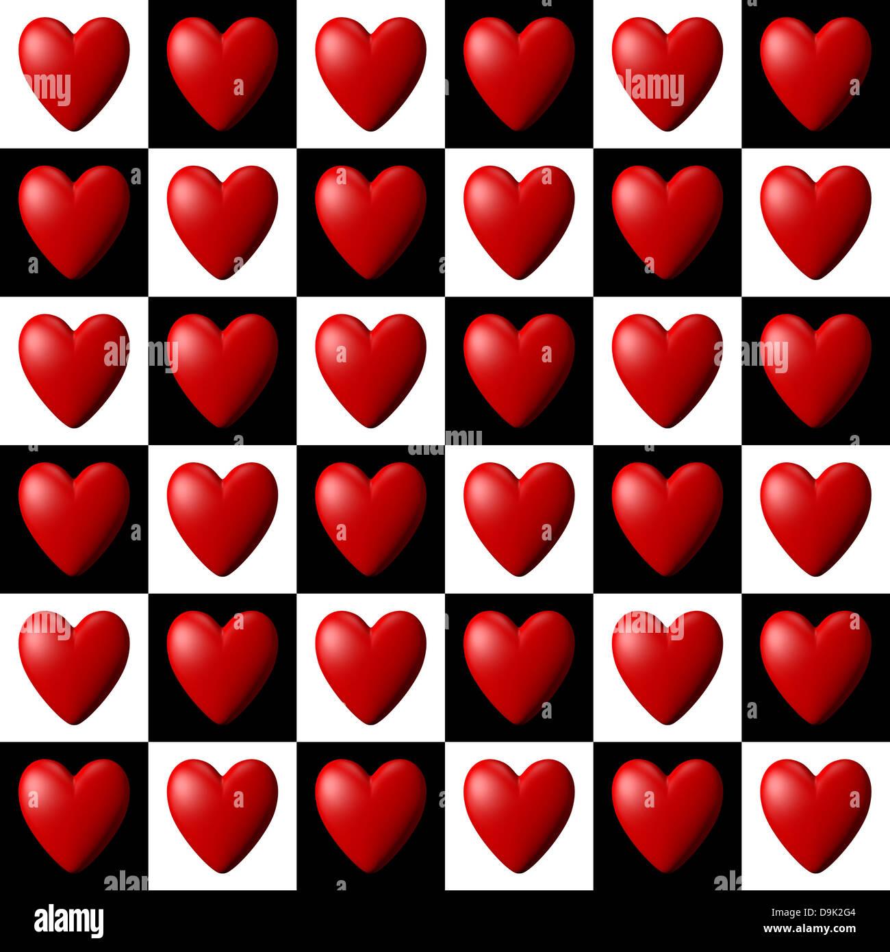 Herz-Muster Stockbild