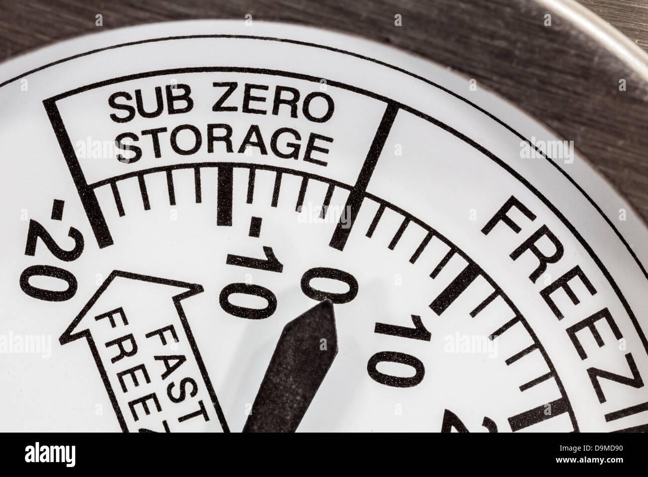 Kühlschrank Thermometer : Sub zero lagerung kühlschrank thermometer makro detail stockfoto